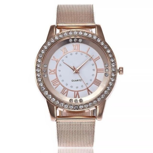 21d572ebef5e NEW Rose Gold Watch With Swarovski Crystals. NWT. Michael Kors